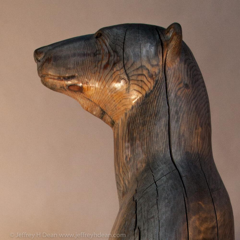 First arctic sun polar bear sculpture by jeff dean