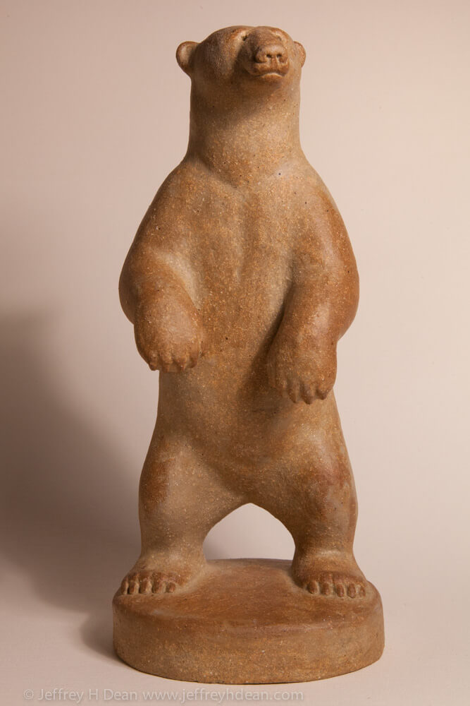 Clay polar bear sculpture. Available in bronze.By Ranja