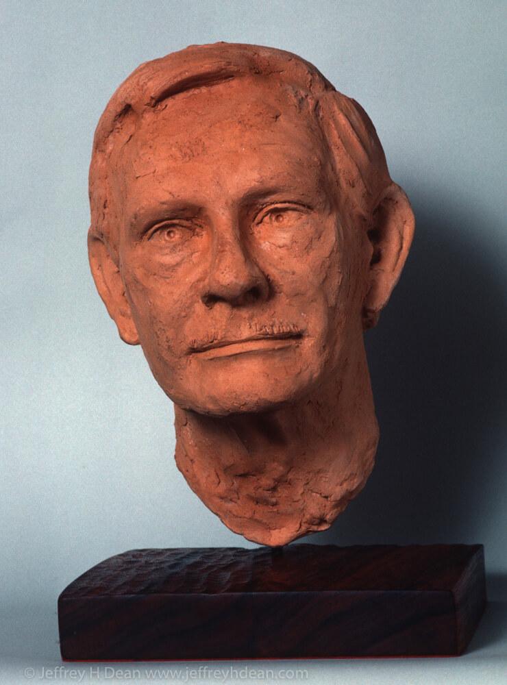 Clay Portrait of Lee Salisbury.