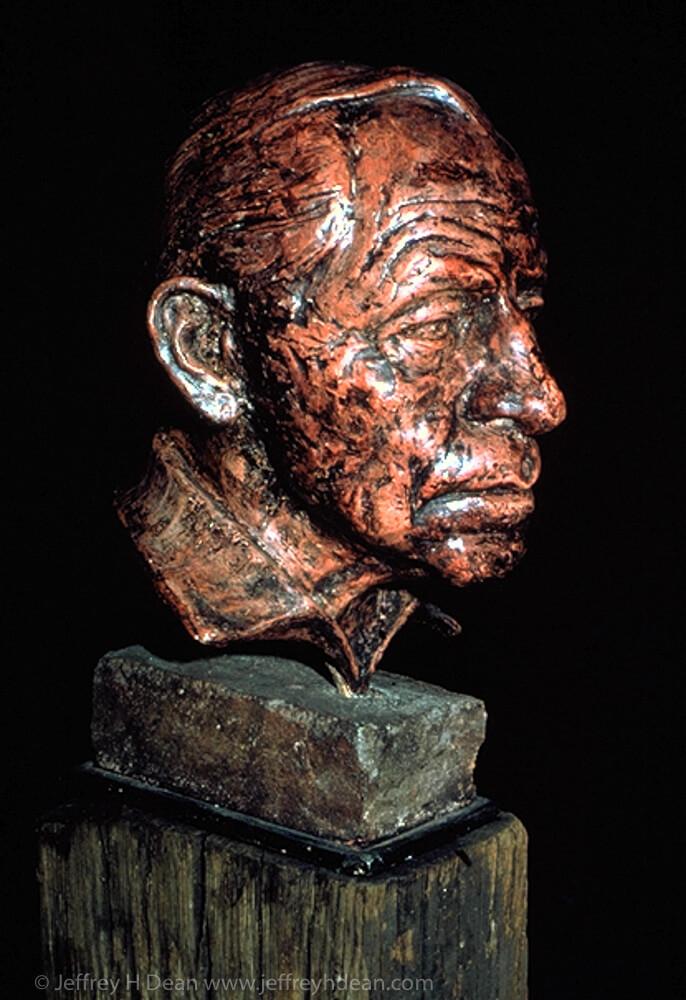 Portrait of Belgian blacksmith.