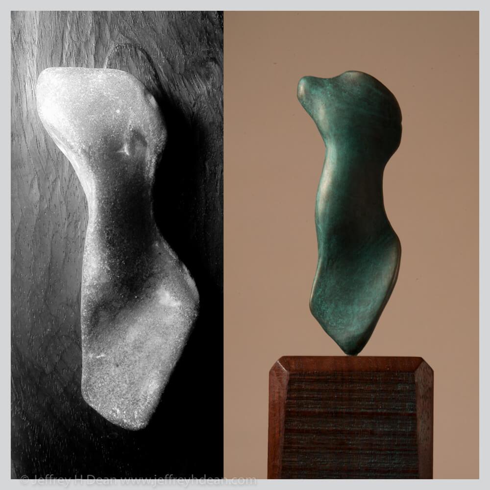 Small bronze torso.